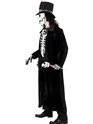 Adult Skeleton Voodoo Man Costume  - Back View - Thumbnail