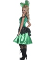 Adult Western Saloon Girl Costume  - Back View - Thumbnail