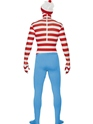 Adult Where's Wally Second Skin Costume  - Back View - Thumbnail