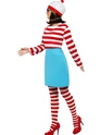 Adult Where's Wally Wanda Female Costume  - Back View - Thumbnail