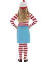 Child Where's Wally Wenda Costume  - Back View - Thumbnail