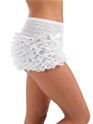 Adult Burlesque White Bustle Pants  - Back View - Thumbnail