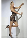 Adult Wide Net Black Clubwear Tube Dress  - Back View - Thumbnail