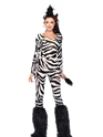 Adult Wild Zebra Costume  - Side View - Thumbnail