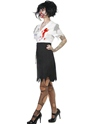 Adult Worked to Death Zombie Female Costume  - Back View - Thumbnail