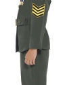 WW2 Army Girl Childrens Costume  - Side View - Thumbnail