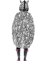 Zebra Party Poncho Festival Costume  - Side View - Thumbnail