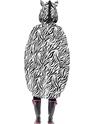 Zebra Party Poncho Festival Costume  - Side View - Thumbnail