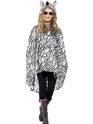 Zebra Party Poncho Festival Costume Thumbnail