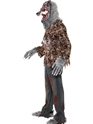 Adult Zombie Alley Werewolf Costume  - Back View - Thumbnail
