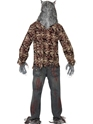 Adult Zombie Alley Werewolf Costume  - Side View - Thumbnail