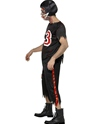 Adult Zombie American Footballer Costume  - Side View - Thumbnail