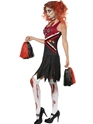 Adult Zombie Cheerleader Costume  - Side View - Thumbnail