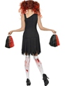 Adult Zombie Cheerleader Costume  - Back View - Thumbnail