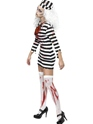 Adult Zombie Convict Lady Costume  - Side View - Thumbnail