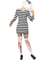 Adult Zombie Convict Lady Costume  - Back View - Thumbnail