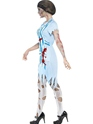 Zombie Dinner Lady Costume  - Back View - Thumbnail