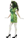 Adult Biohazard Lab Nurse Costume  - Back View - Thumbnail