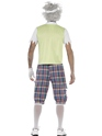 Adult Zombie Golfer Costume  - Side View - Thumbnail