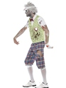 Adult Zombie Golfer Costume  - Back View - Thumbnail