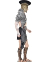Adult Zombie Male Gladiator Costume  - Back View - Thumbnail