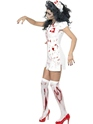 Adult Zombie Nurse Costume  - Side View - Thumbnail