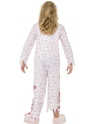 Child Zombie Pyjama Girl Costume  - Side View - Thumbnail