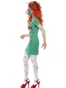 Adult Zombie Scrub Nurse Costume  - Back View - Thumbnail