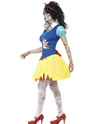 Adult Zombie Snow Fright Costume  - Back View - Thumbnail