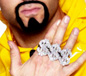 3 In 1 Glitter Dollar Sign $ Rapper Rings Silver (22350)