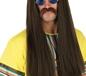 60's Brown Hippie Wig & Glasses Set (FS2862)