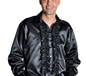 70's Mens Satin Shirt Black (205201-2)