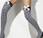 Black & White Check Thigh Highs (42784)