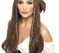 Adult Brown Pirate Wig with Bandana (21398)