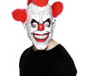 Clown Three-Quarter Mask With Red Hair (26385)