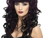 Curly Siren Wig with Fringe Plum (42265)