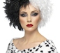 Evil Madam Wig Half Black And Half White (42117)