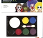 Face Painting Palette White Yellow Blue Black Red Green Purple (24410)