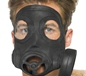 Gas Mask Black Rubber (24211)