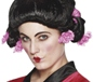 Geisha Girl Wig With Pink Flowers (42129)