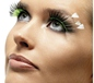 Green and Black Feather Plume Eyelashes (34987)