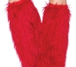 Red Furry Leg Warmers (3934R)