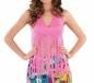 Adult Ladies Fringed Neon Pink Hippie Top (FS3337)