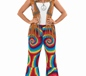 Adult Ladies Hippie Tye Dye Flares (FS3335)