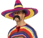 Large Coloured Sombrero (34742)
