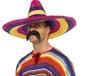 Large Coloured Sombrero (34742)