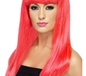Neon Pink Babelicious Wig (42421)