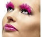 Neon Pink Feathered Eyelashes (36520)