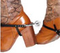 Pair Of Spurs With Straps Silver Black (21844)