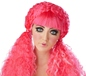 Pink Crimped Doll Wig (70730)